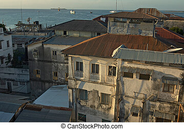 View of Stone Town Zanzibar, Tanzania - View of old Stone...