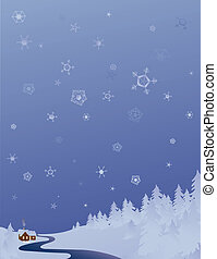 cold winter background - winter landscape background with...