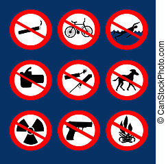 not allowed icons