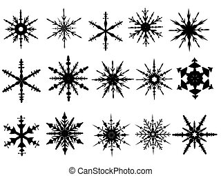 Snowflake Elements 4 of 4 (Snowflakes are grouped and the...
