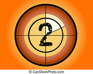 Circle Countdown - At 2 - Orange and Red Circle Countdown at...