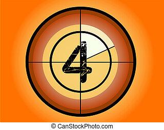 Circle Countdown - At 4 - Orange and Red Circle Countdown at...
