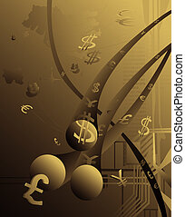 E-commerce - Abstract depiction of electronic international...