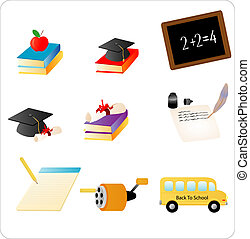 School Objects - Objects related to school and education