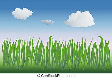 vector grass - vector based illustration of a grassy field...