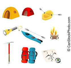 The great outdoors - Various objects representative of the...