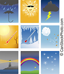 weather icons - icons of different types of weather...