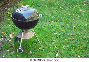 Black Barbeque grill - A Black Barbeque grill in the yard...
