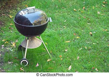 Black Barbeque grill - A Black Barbeque grill in the yard...