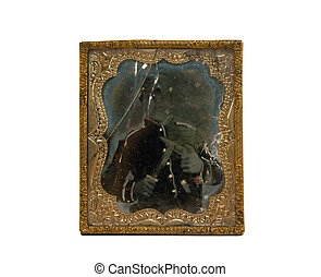 Ambrotype Photo of Civil War Soldier - an ambrotype...