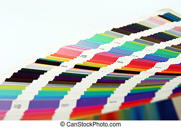 graphic art colors - graphic arts colors scale closeup for...