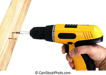 Hand drill - Turn of on screw