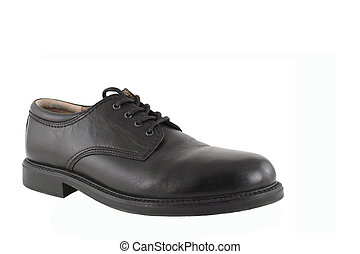 Black Mens Shoe - A Black Mens Shoe isolated on white