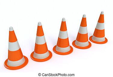 Traffic-cones - 3d Traffic-cones