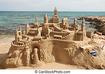 Sandcastle on the beach - Amazing sandcastle on a...