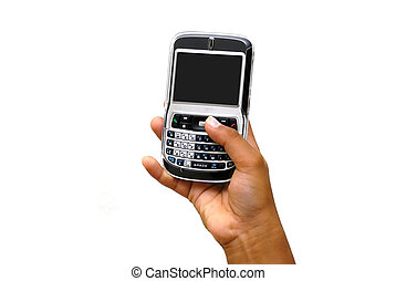 Making a call using a pda cell phone