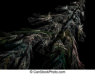 abstrackt - digital abstract background computer made smoke...