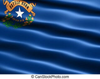State flag: Nevada - Computer generated illustration of the...
