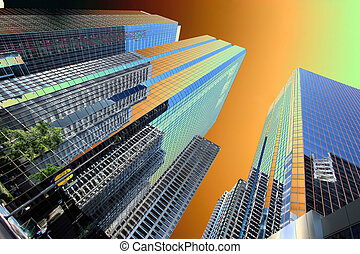 Buildings - Modern architecture in Abstract colors