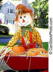 Scarecrow - A scarecrow decorated with a halloween theme