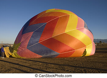 Taos balloon festival - One of the many balloons at the Taos...