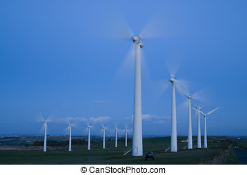 Wind Farm - Power generation wind farm - landscape...