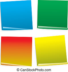 post it col variation - Four color post it notes in...