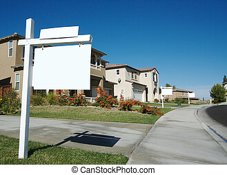 Blank Real Estate Signs in a Row - Ready for your own...