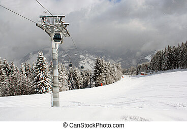 Zell Am See Austria - A general view of the ski resort of...