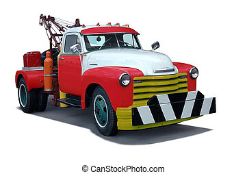 Tow Truck - A classic 1960s tow truck vintage