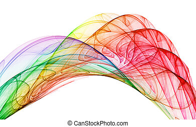 multicolored abstraction over white background, hq render
