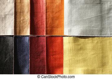 Color sampler - Color palette sample picker of textile...