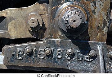 Steam Locomotive Parts - Worn Nineteenth Century Steam...