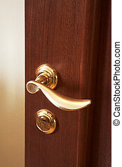 new brilliant lock - Wooden door with the new brilliant lock