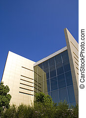 Business building 2 - Modern business building with a blue...