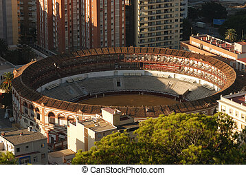 Plaza de Toros bullring in Malaga, Spain