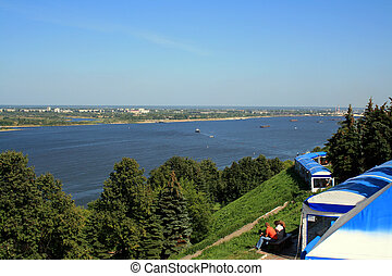 Summer On The Banks - Summer day on the high bank of the...