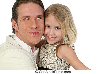 Father and daughter Hug