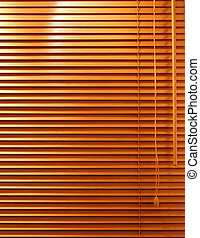 Wooden Window Blind - A home interior Venetian blind with...