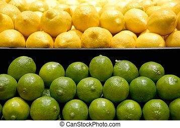 Lemons and Limes - Yellow Lemons and Green Limes