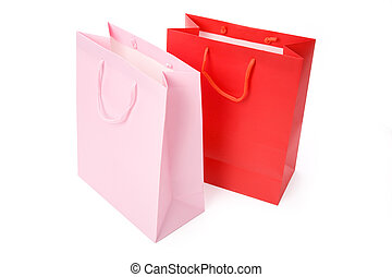 Shopping Bag with white background