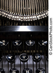 typewriter close up for background