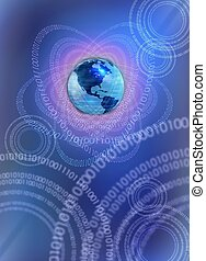 IT technology world - conceptual business background with...