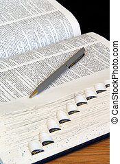Study Time - Open Dictionary with Pen