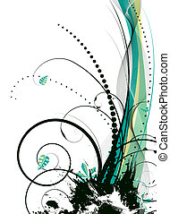 natural spray - abstract illustration with a natural theme...