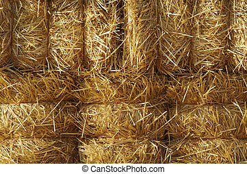 Hay Bails - Abstract Hay Bails Background Image