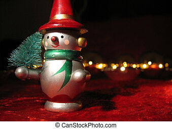 Snow man 4 - Snow man with a little christmas tree