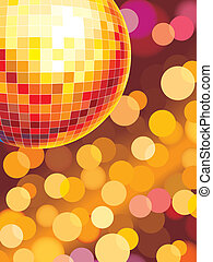 Party lights - Party disco background with glowing lights