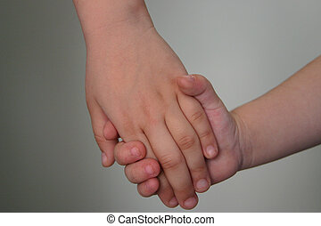 Holding hands - Children holding hands