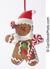 Gingerbread ornament - A Gingerbread Man Christmas Ornament